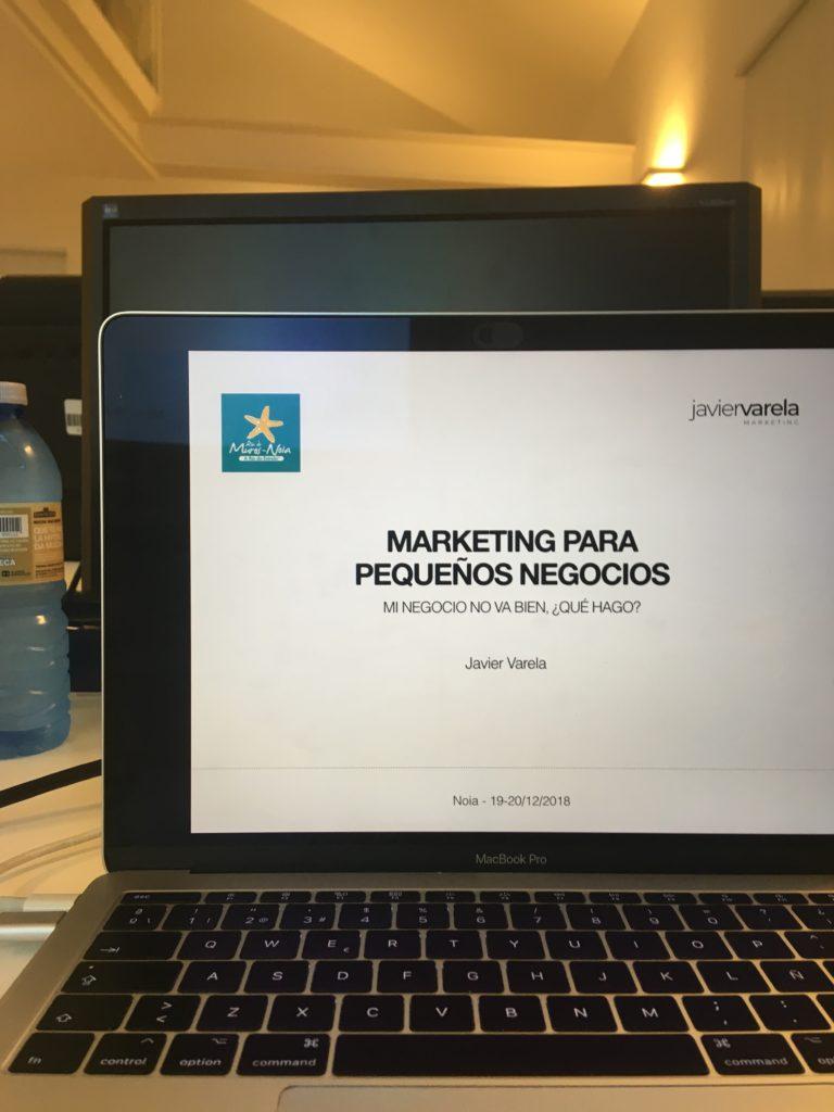 Curso Marketing Pequenos Negocios Noia - Javier Varela